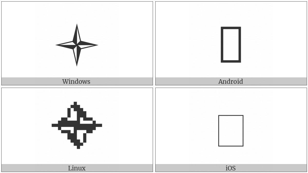 Reverse Light Four Pointed Pinwheel Star on various operating systems