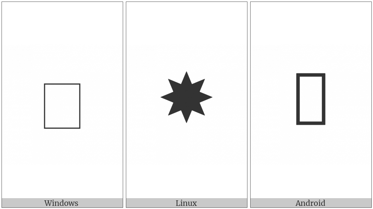 Heavy Eight Pointed Black Star on various operating systems