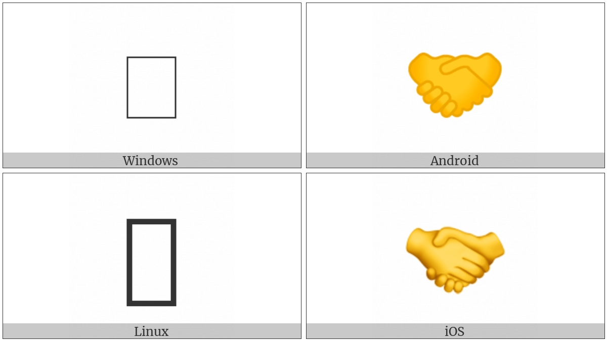 Handshake on various operating systems