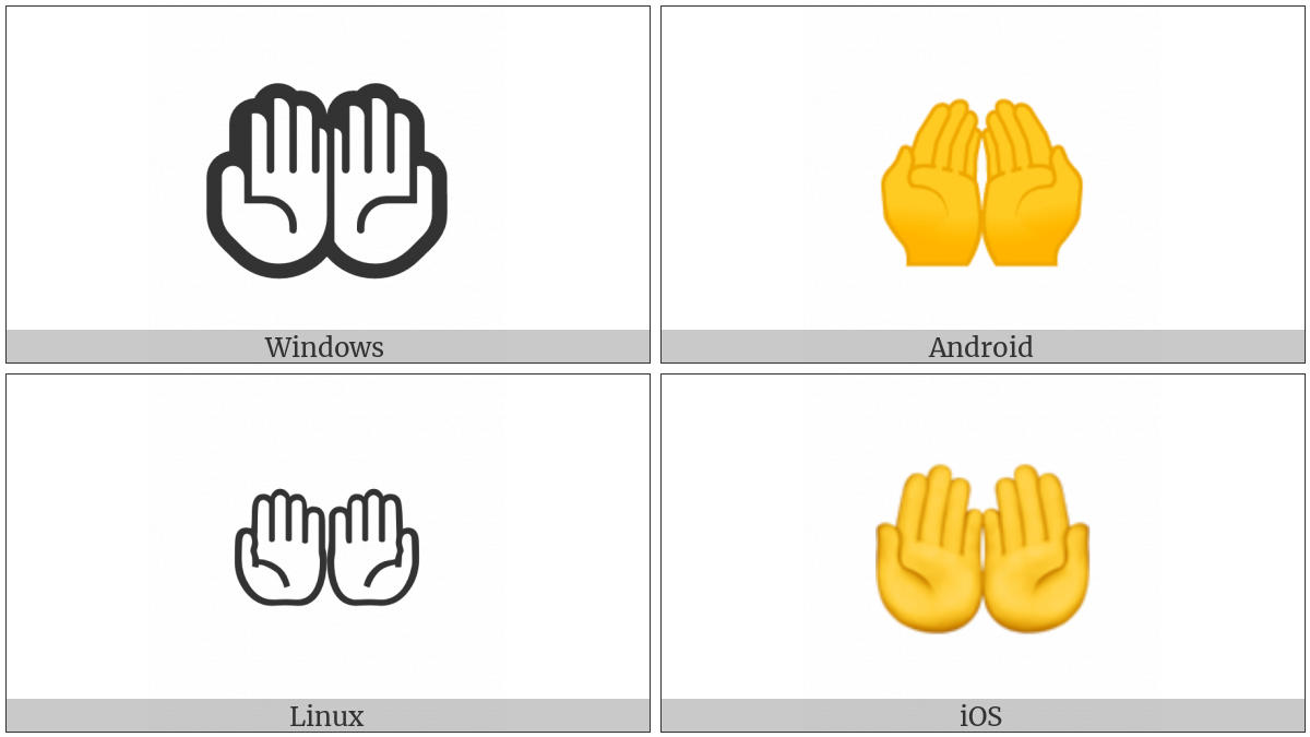 Palms Up Together on various operating systems