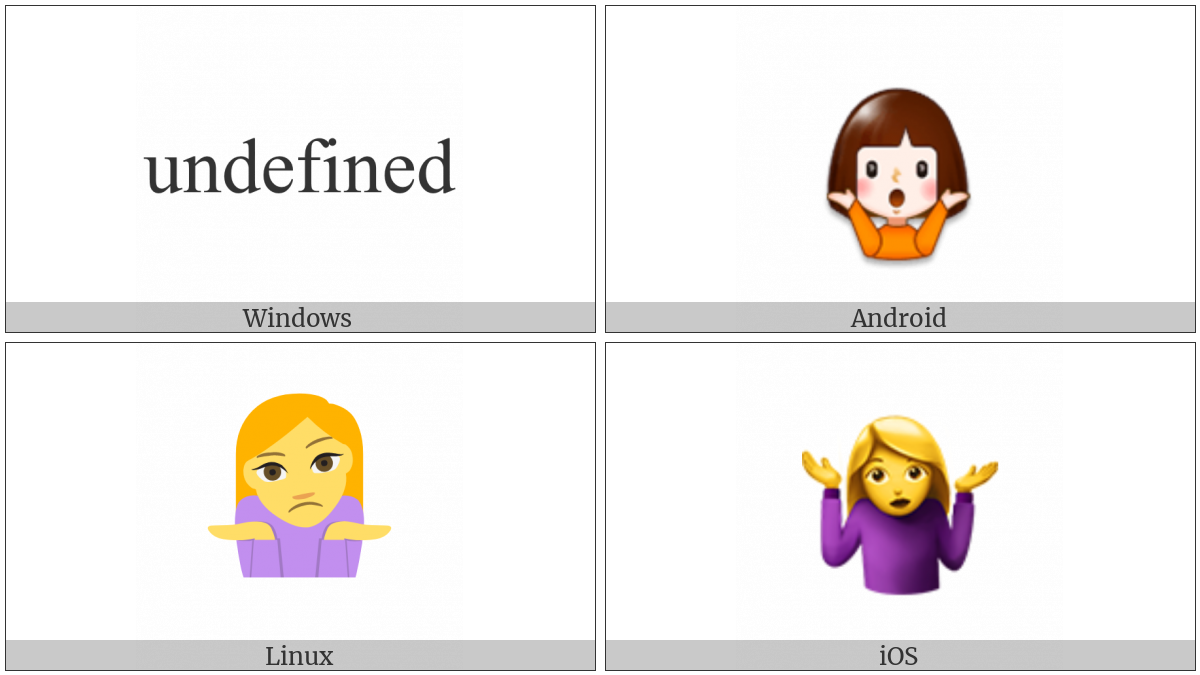 Shrug on various operating systems