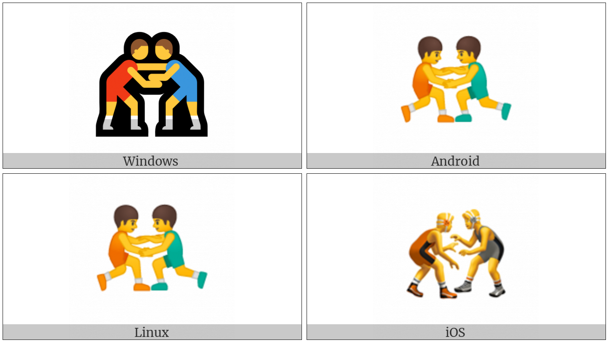 Wrestlers on various operating systems