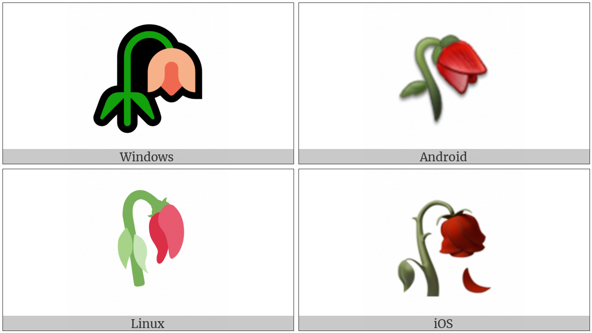 Wilted Flower on various operating systems