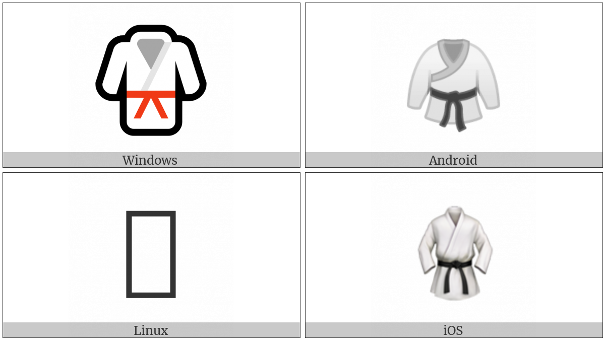 Martial Arts Uniform on various operating systems