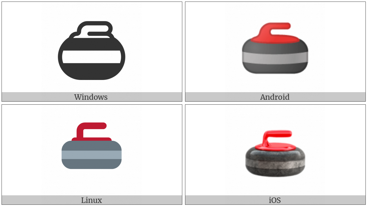 Curling Stone on various operating systems