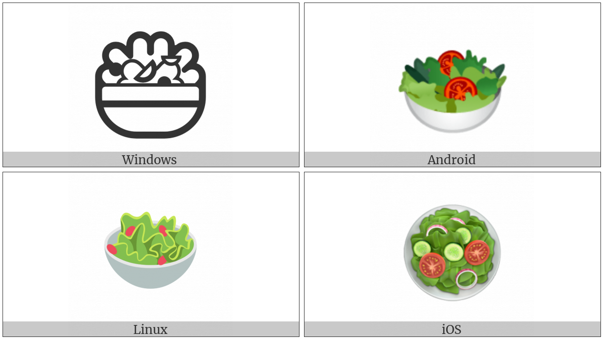 Green Salad on various operating systems