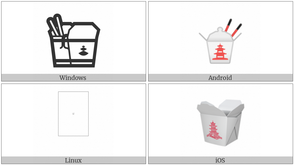 Takeout Box on various operating systems