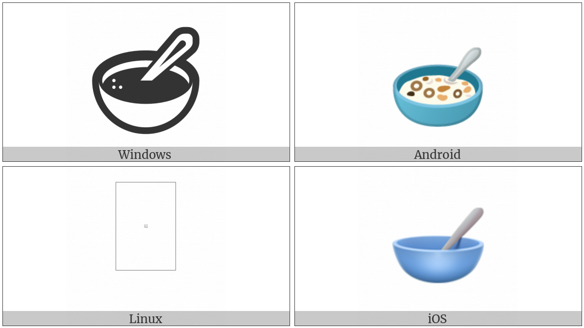 Bowl With Spoon on various operating systems