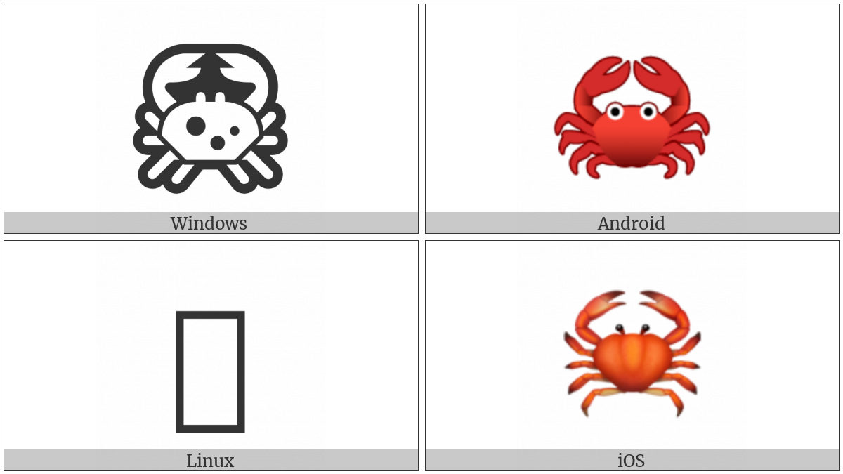 Crab on various operating systems
