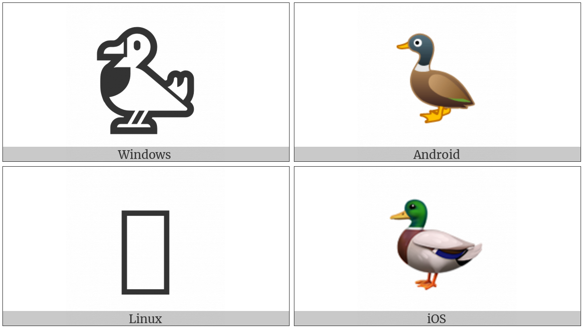 Duck on various operating systems