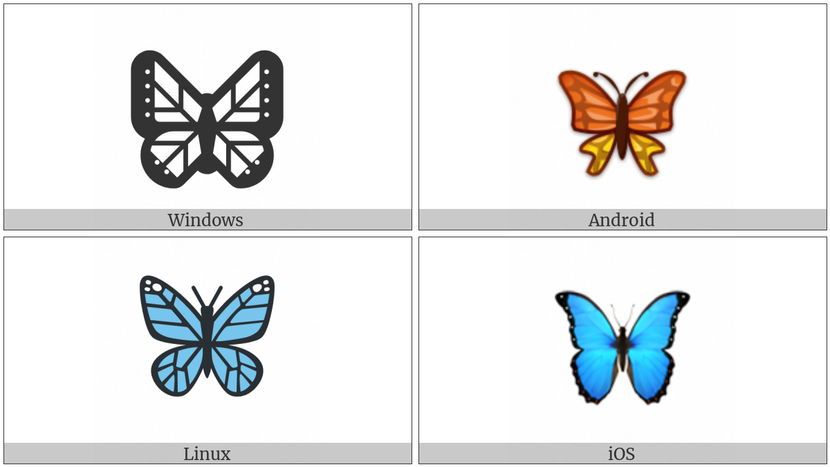 Butterfly on various operating systems