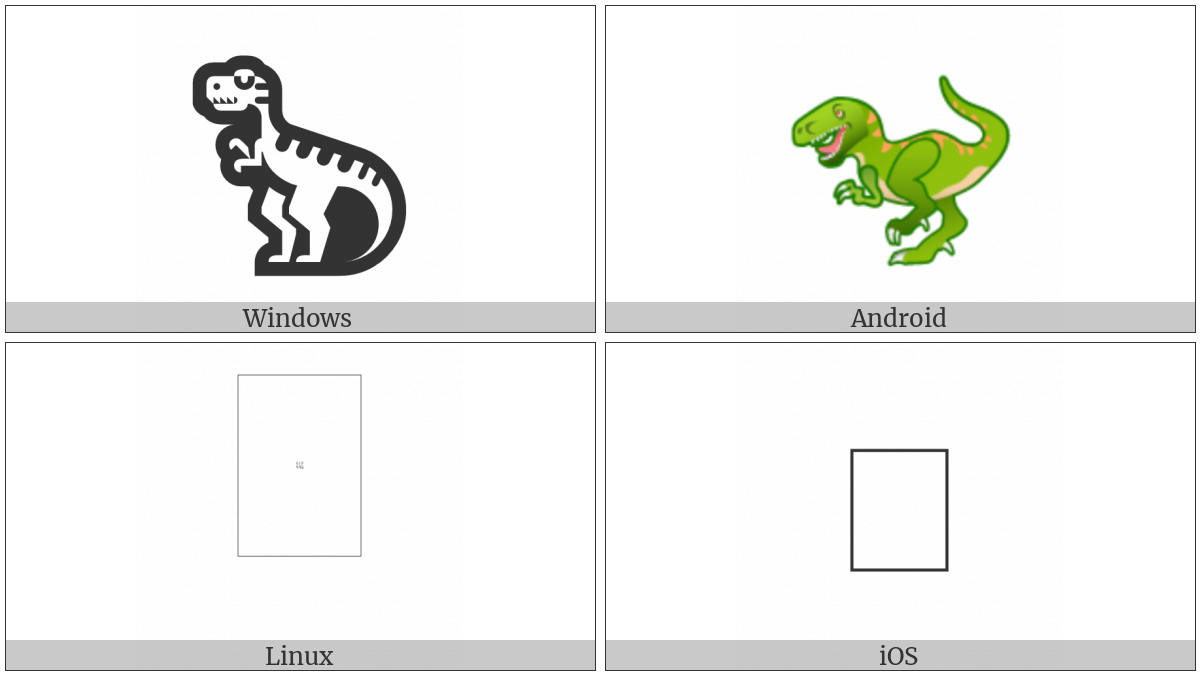 T-Rex on various operating systems