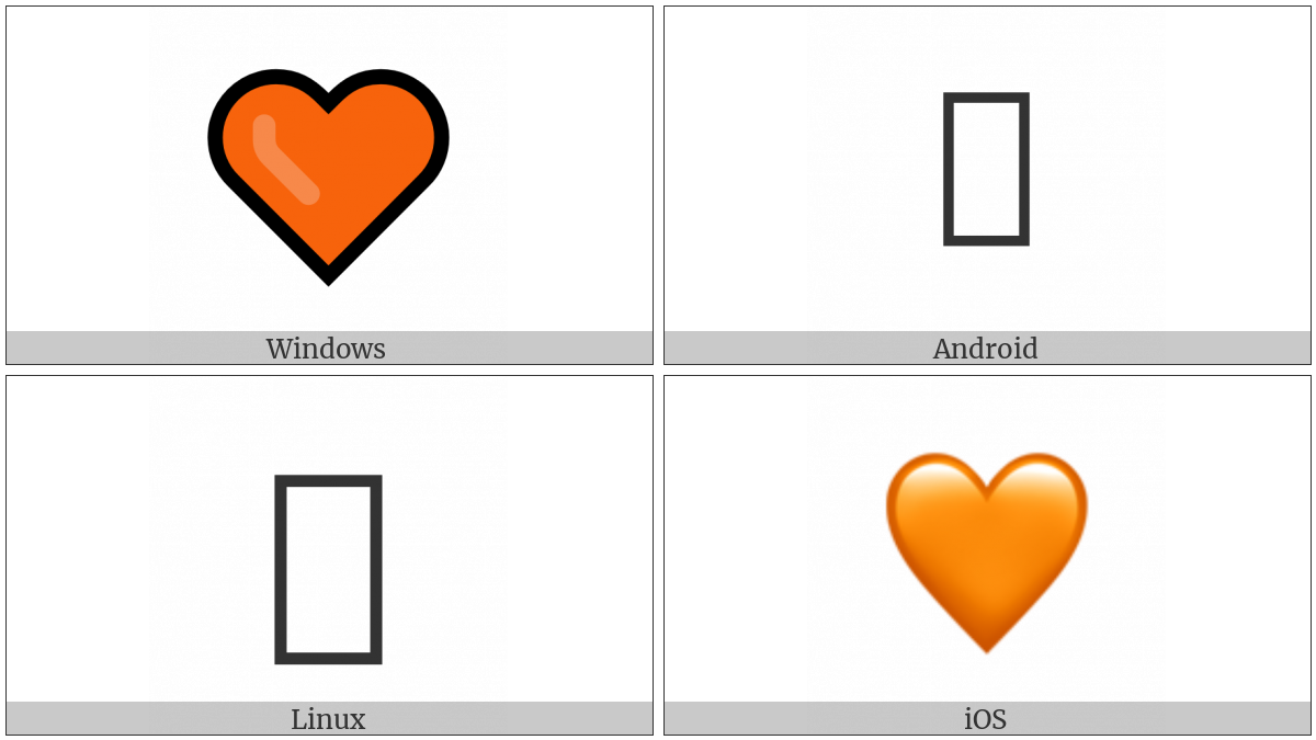 Orange Heart on various operating systems
