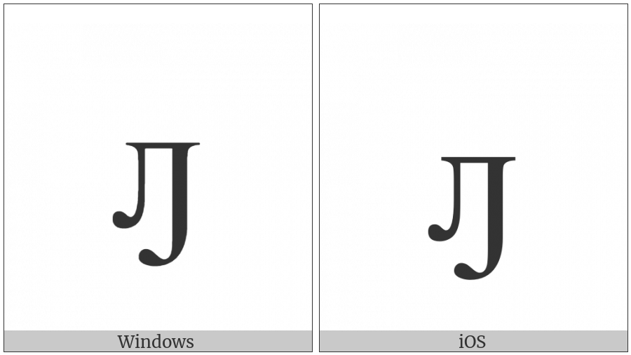 Cyrillic Small Letter El With Hook on various operating systems