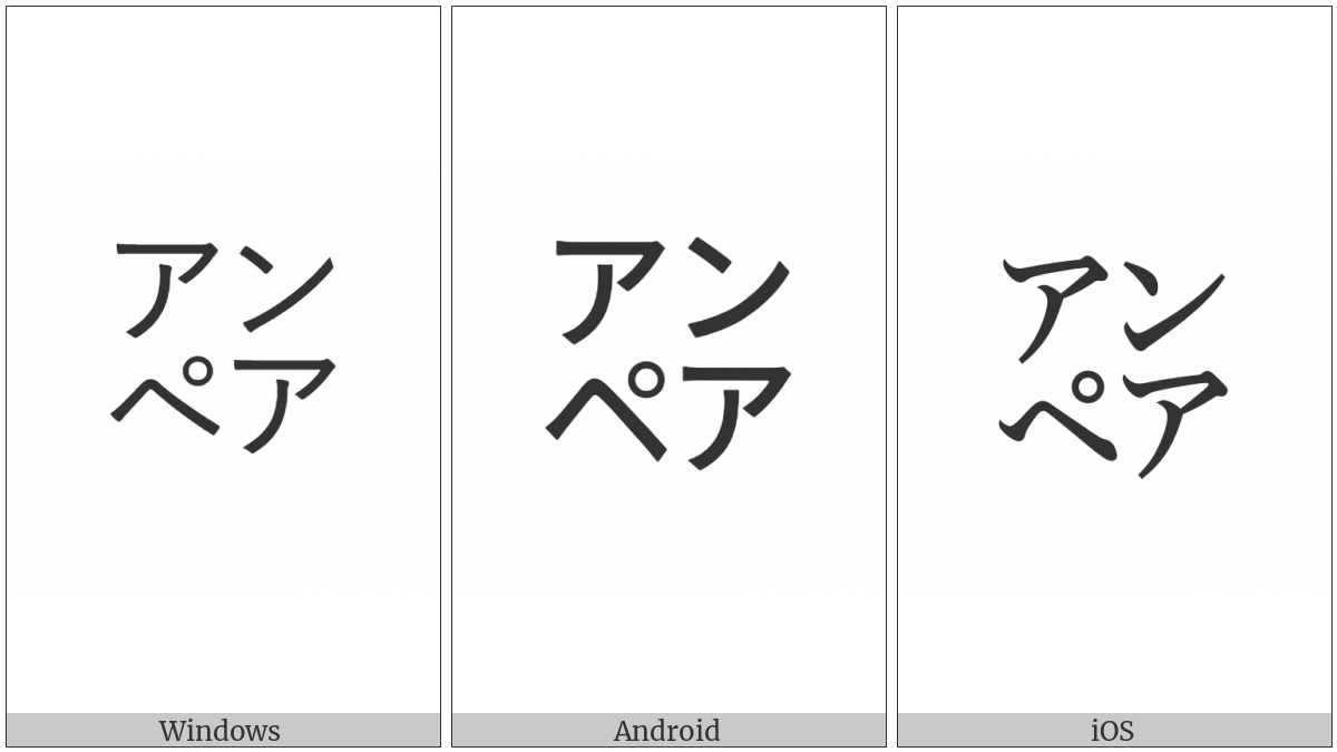 Square Anpea on various operating systems