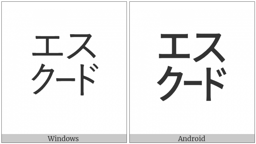 Square Esukuudo on various operating systems