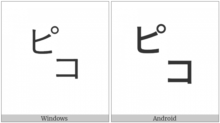 Square Piko on various operating systems