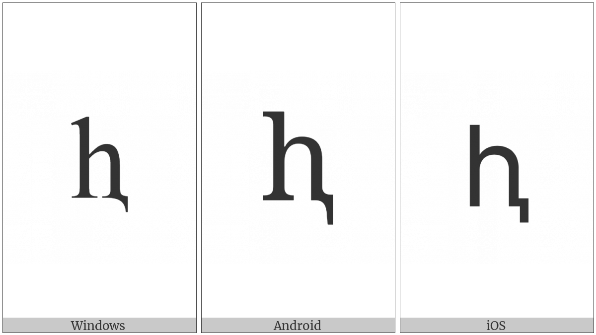 Cyrillic Small Letter Shha With Descender on various operating systems