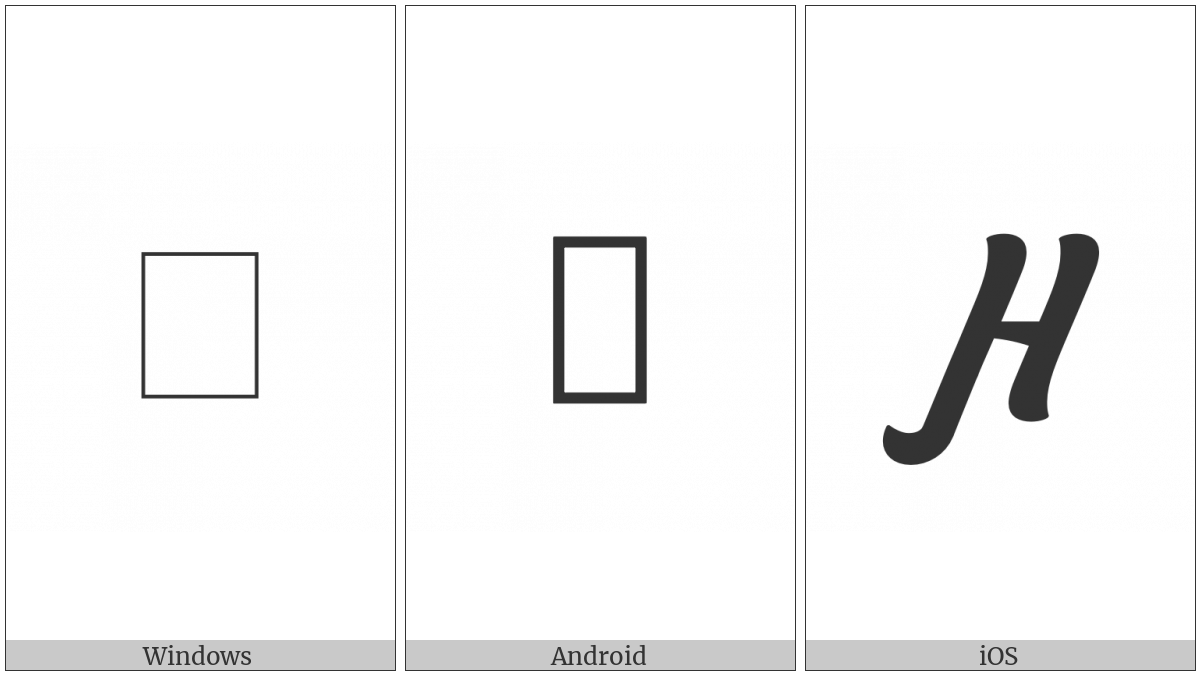 Cyrillic Capital Letter En With Left Hook on various operating systems