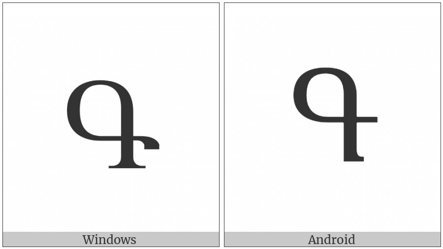 Armenian Capital Letter Gim on various operating systems
