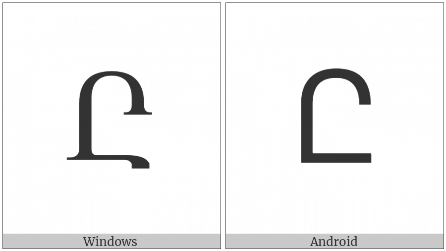 Armenian Capital Letter Et on various operating systems