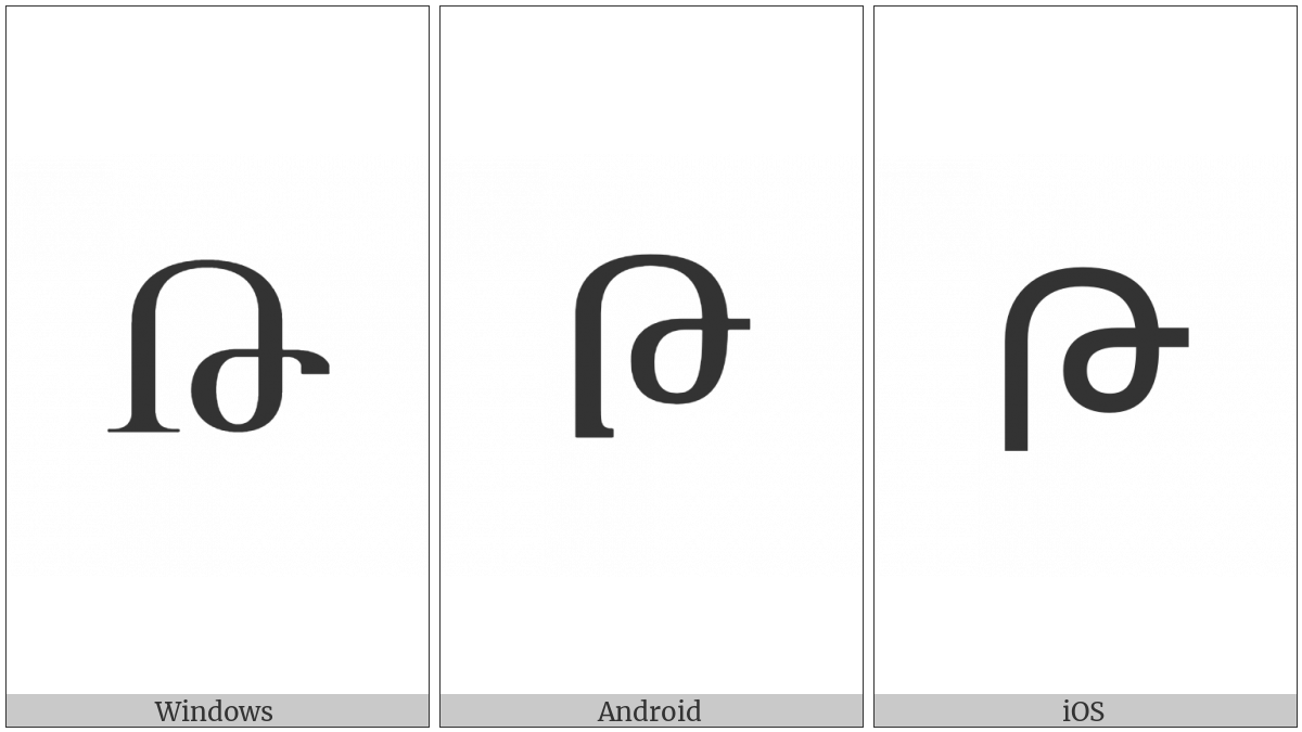 Armenian Capital Letter To on various operating systems
