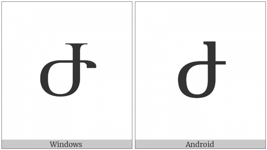 Armenian Capital Letter Zhe on various operating systems