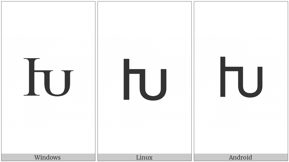 Armenian Capital Letter Xeh on various operating systems
