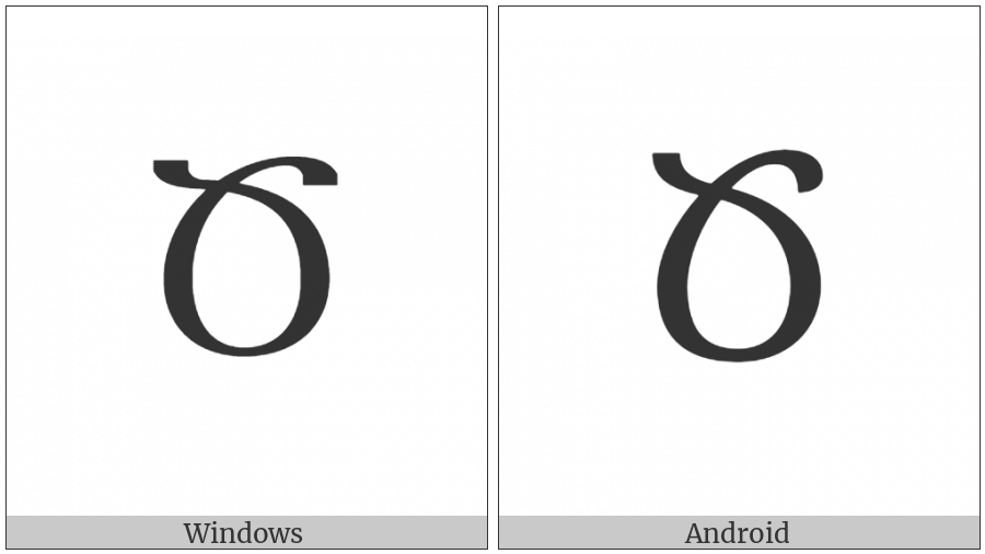 Armenian Capital Letter Ca on various operating systems
