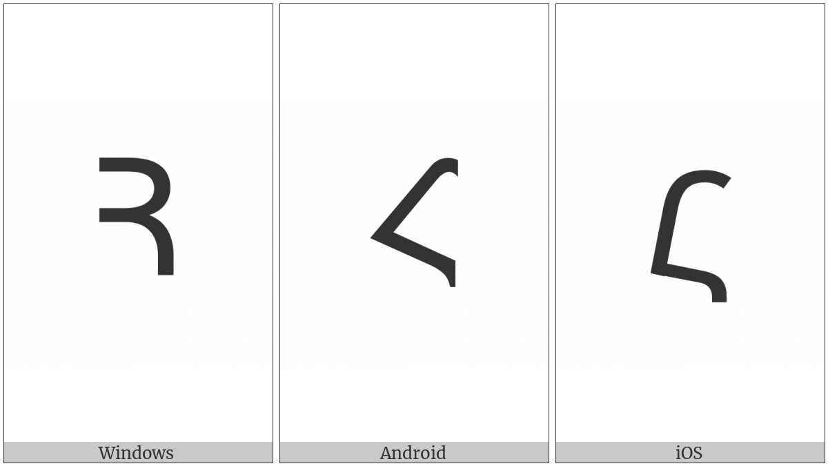 Armenian Capital Letter Ho on various operating systems