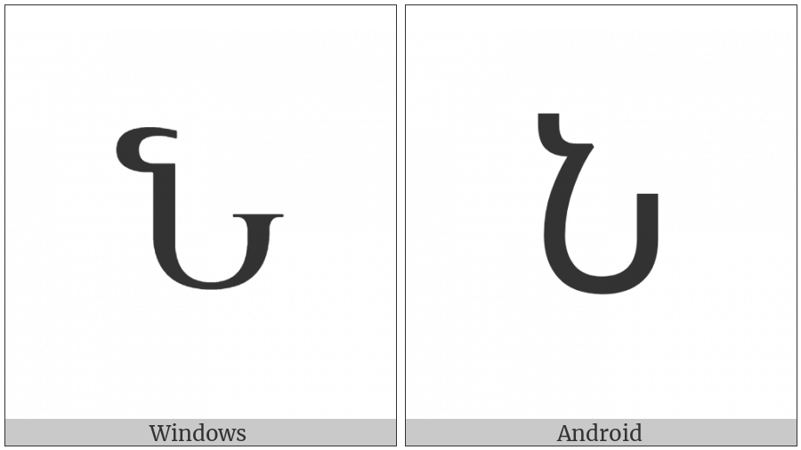 Armenian Capital Letter Now on various operating systems