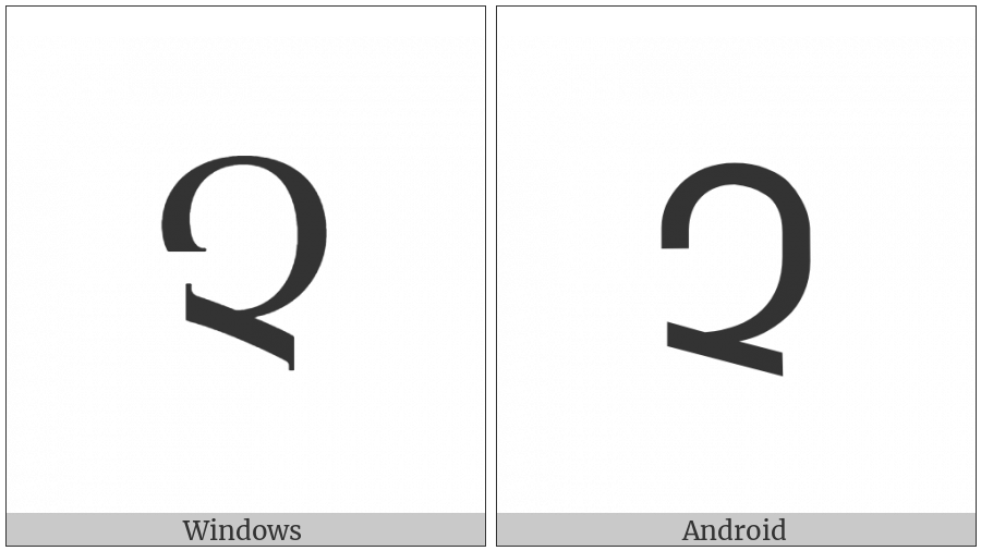 Armenian Capital Letter Cha on various operating systems