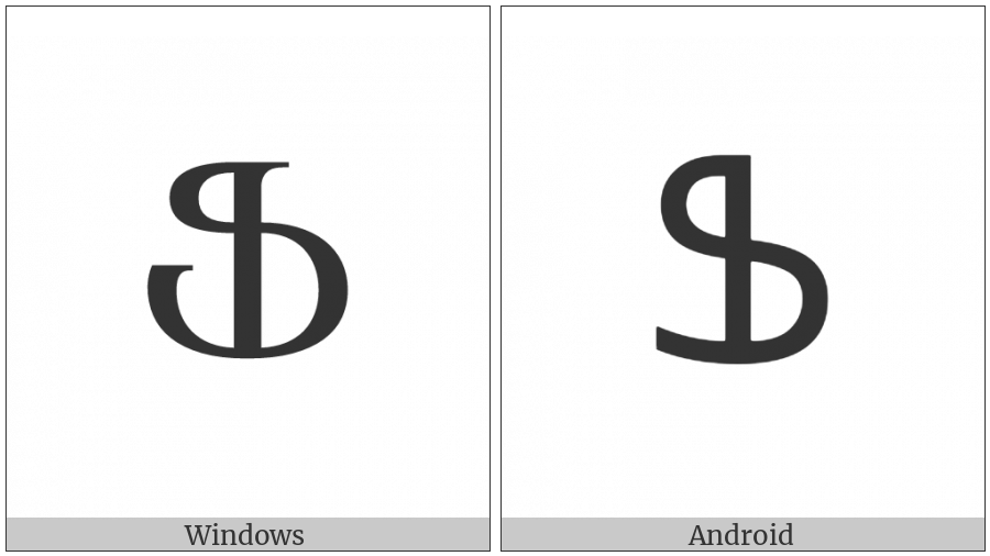 Armenian Capital Letter Feh on various operating systems