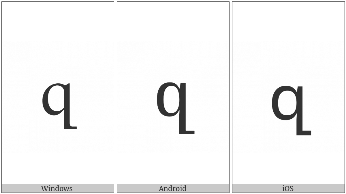 Armenian Small Letter Za on various operating systems