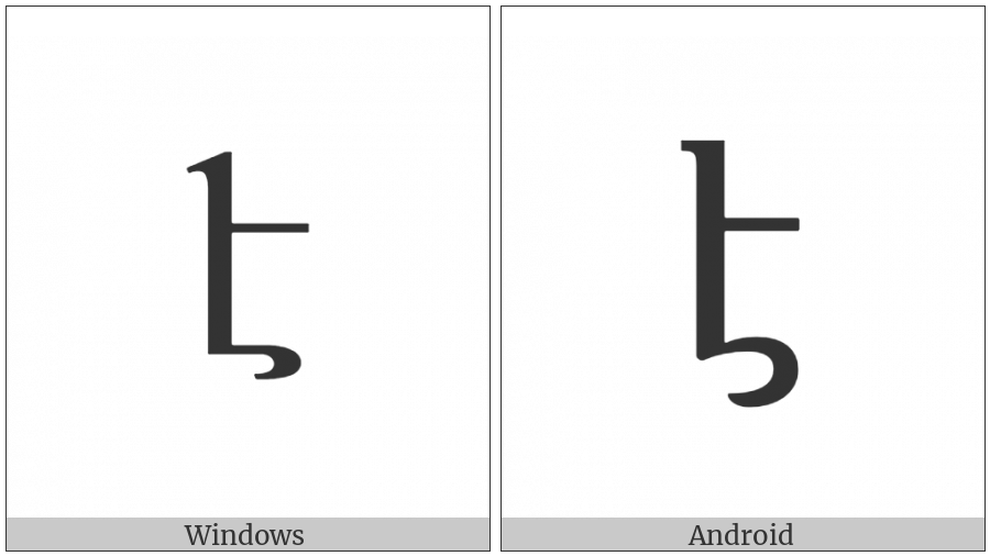 Armenian Small Letter Eh on various operating systems