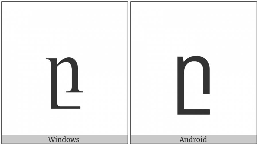 Armenian Small Letter Et on various operating systems