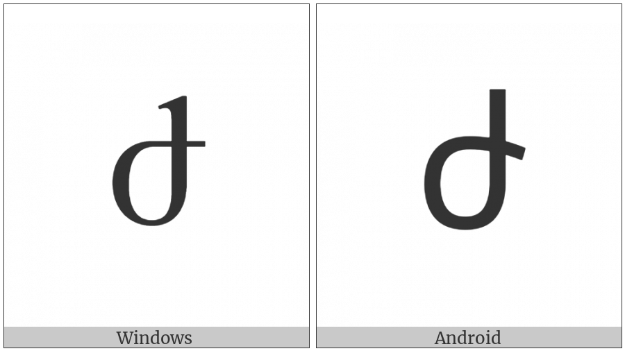 Armenian Small Letter Zhe on various operating systems