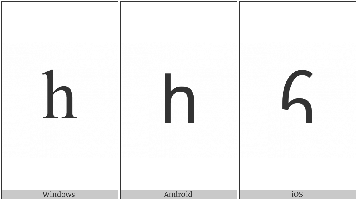 Armenian Small Letter Ho on various operating systems
