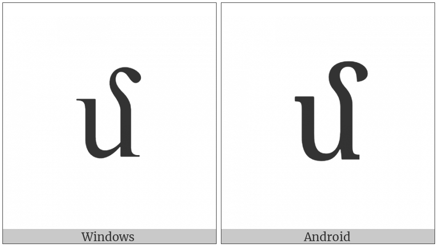 Armenian Small Letter Men on various operating systems