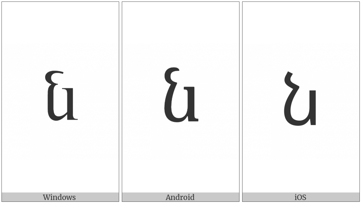 Armenian Small Letter Now on various operating systems