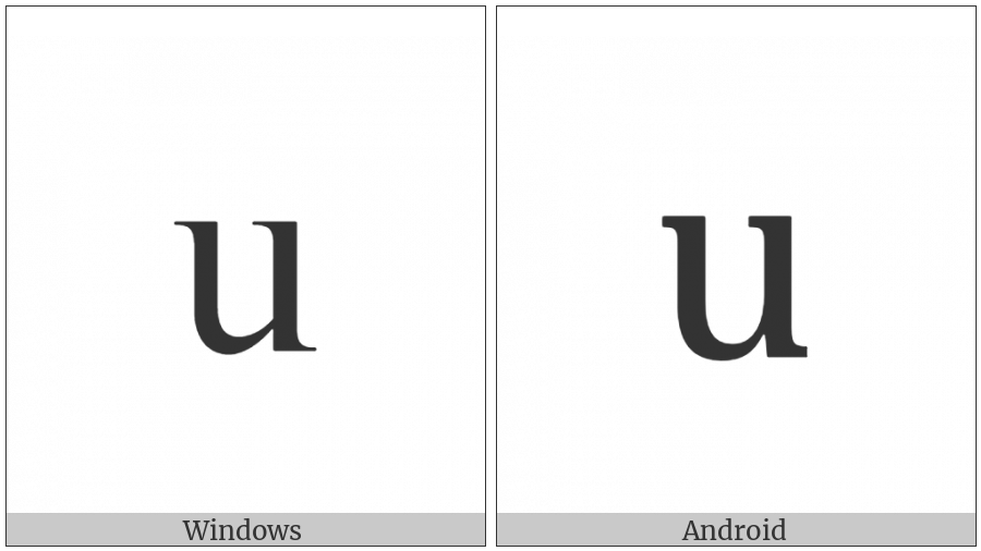 Armenian Small Letter Seh on various operating systems