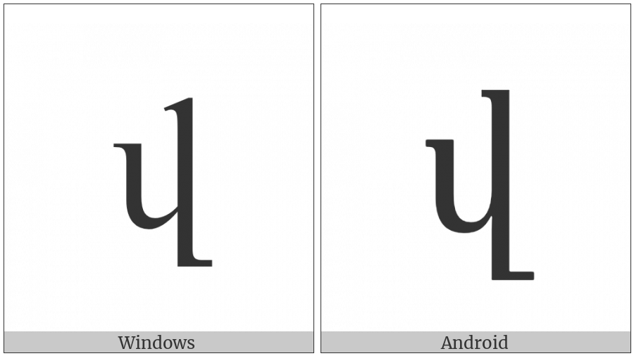 Armenian Small Letter Vew on various operating systems