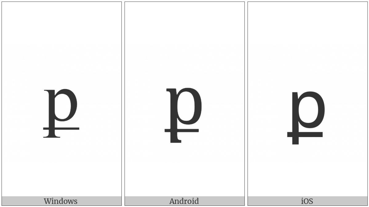 Armenian Small Letter Keh on various operating systems