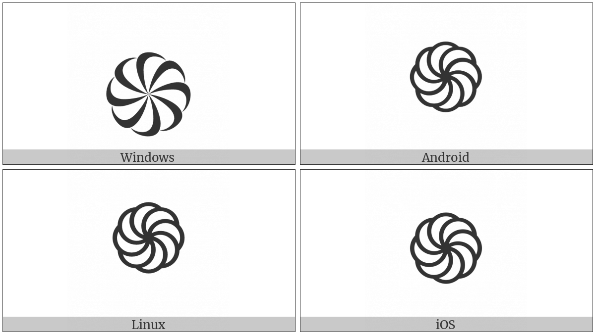 Right-Facing Armenian Eternity Sign on various operating systems