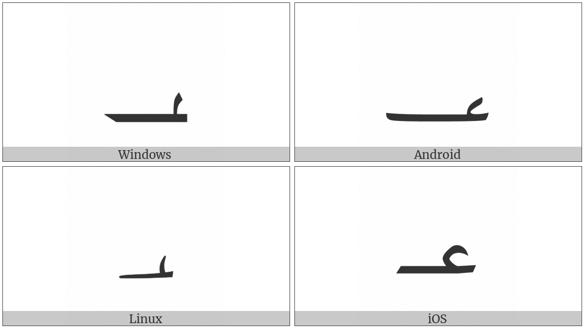 Arabic Number Sign on various operating systems