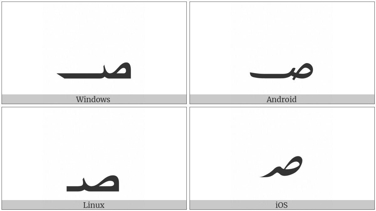 Arabic Sign Safha on various operating systems