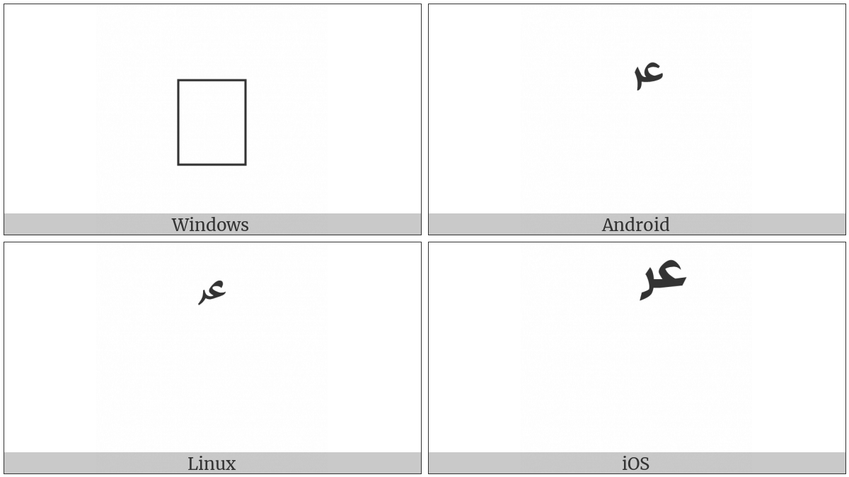 Arabic Sign Alayhe Assallam on various operating systems