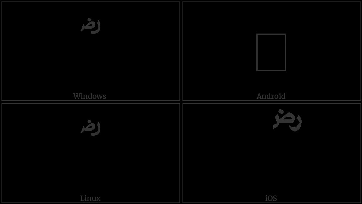 ARABIC SIGN RADI ALLAHOU ANHU utf-8 character
