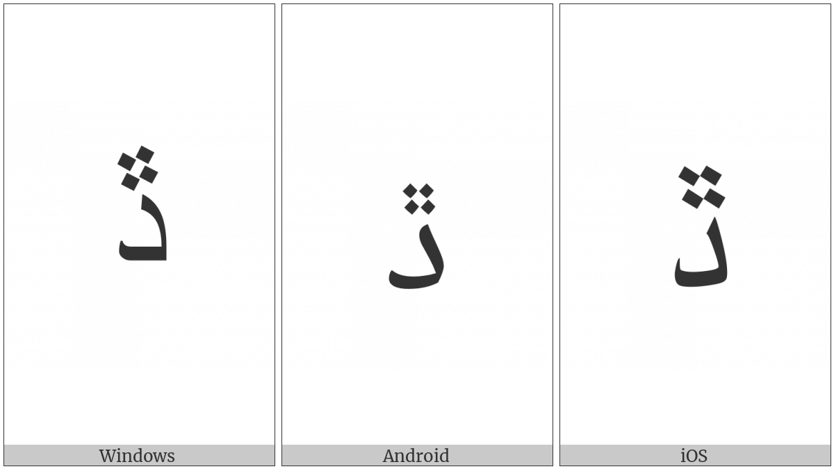 ARABIC LETTER DAL WITH FOUR DOTS ABOVE utf-8 character