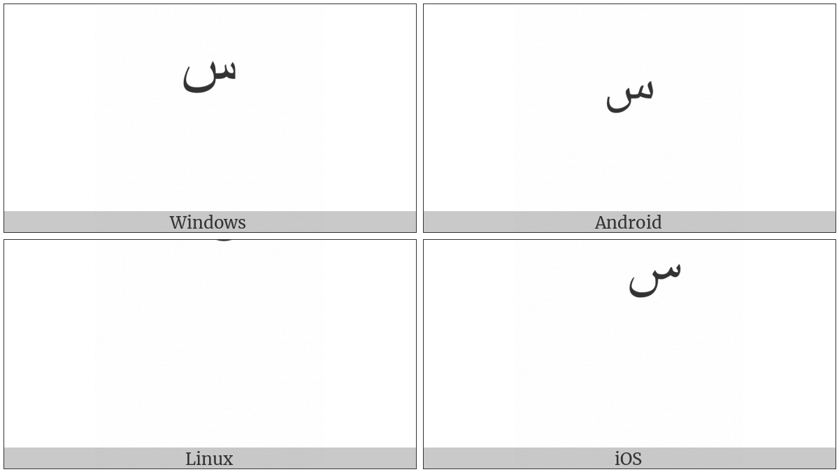 ARABIC SMALL HIGH SEEN utf-8 character